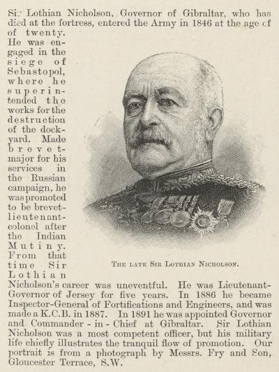 The Late Sir Lothian Nicholson--Giclee Print