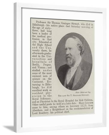 The Late Sir T Grainger Stewart--Framed Giclee Print