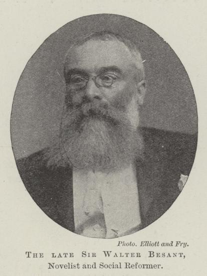 The Late Sir Walter Besant, Novelist and Social Reformer--Giclee Print