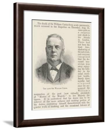 The Late Sir William Cusins--Framed Giclee Print