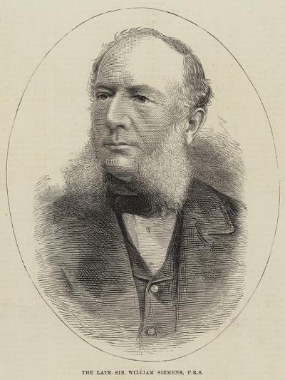 The Late Sir William Siemens--Giclee Print