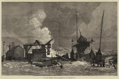The Late Storms, Partial Destruction of Hastings Pier--Giclee Print