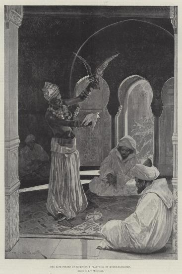 The Late Sultan of Morocco, a Plaything of Muley-El-Hassan-Richard Caton Woodville II-Giclee Print