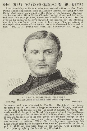 The Late Surgeon-Major Parke--Giclee Print