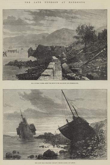 The Late Typhoon at Hong-Kong--Giclee Print
