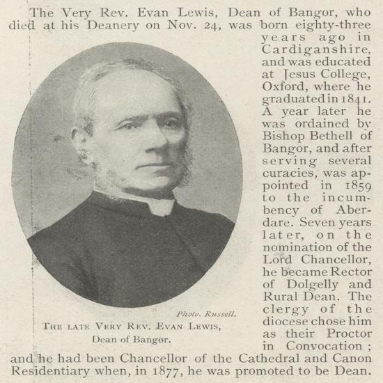 The Late Very Reverend Evan Lewis, Dean of Bangor--Giclee Print