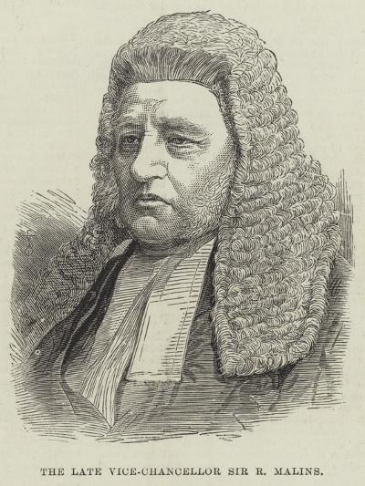 The Late Vice-Chancellor Sir R Malins--Giclee Print