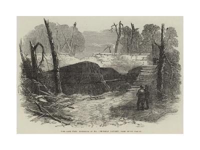 The Late War, Magazine of No 1 Prussian Battery, Park of St Cloud--Giclee Print
