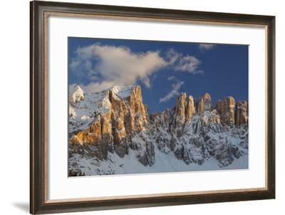 The Latemar Spiers at Sunset from Carezza Lake, Trentino Alto-Adige, Italy-ClickAlps-Framed Photographic Print