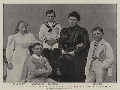 The Latest Portrait of Princess Henry of Battenberg and Her Children--Giclee Print