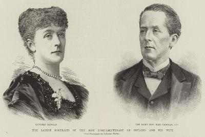 The Latest Portraits of the New Lord-Lieutenant of Ireland and His Wife--Giclee Print