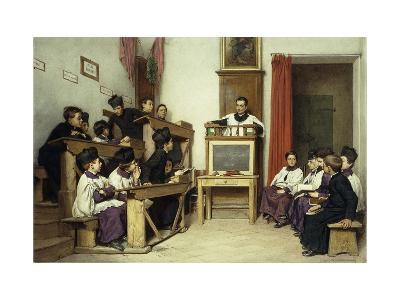 The Latin Class-Ludwig Passini-Giclee Print