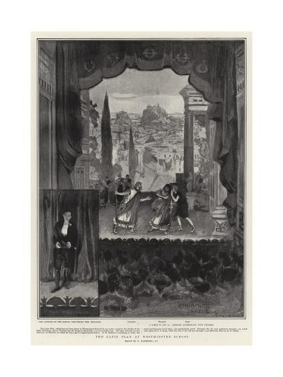 The Latin Play at Westminster School-William Hatherell-Giclee Print
