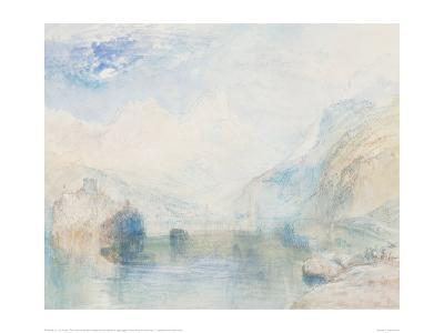 The Lauerzersee with Schwyz and the Mythen-J^ M^ W^ Turner-Giclee Print