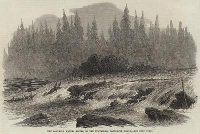 The Laughing Waters Rapids, on the Puntledge, Vancouver Island--Giclee Print
