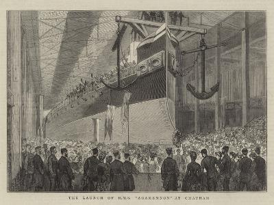 The Launch of HMS Agamemnon at Chatham--Giclee Print
