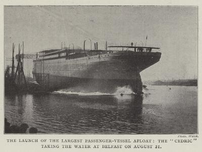 The Launch of the Largest Passenger-Vessel Afloat--Giclee Print
