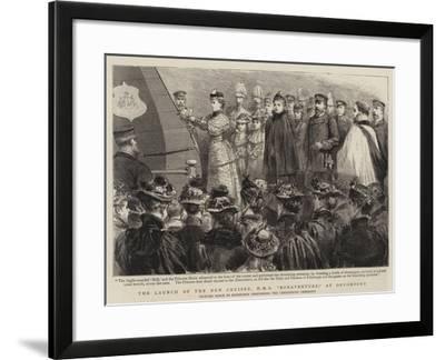 The Launch of the New Cruiser, HMS Bonaventure, at Devonport--Framed Giclee Print