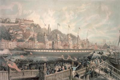 The Launch of the Steamship 'The Great Britain' in the Presence of H.R.H. Prince Albert-English School-Giclee Print