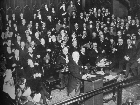 'The launching of the War Loan', 1915-Unknown-Photographic Print