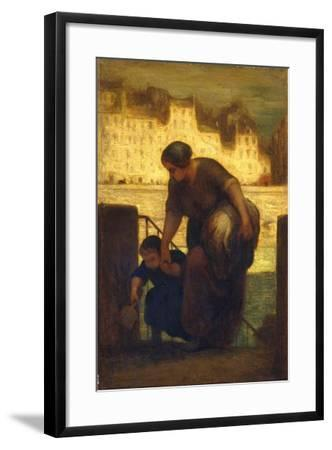 The Laundress, c.1863-Honore Daumier-Framed Giclee Print