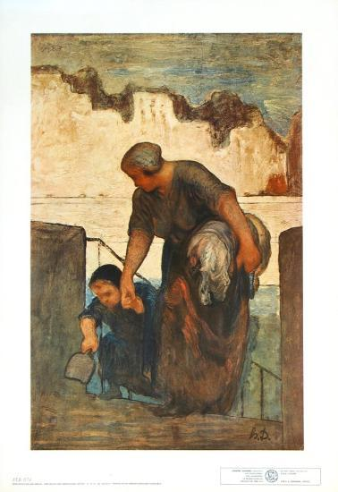 The Laundress-Honore Daumier-Collectable Print