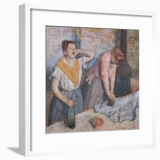 The Laundresses, circa 1884-Edgar Degas-Framed Giclee Print