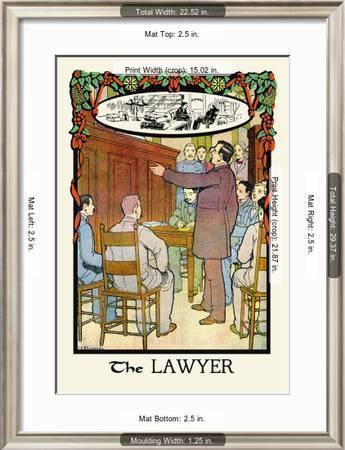 The Lawyer Art Print H O Kennedy Art Com