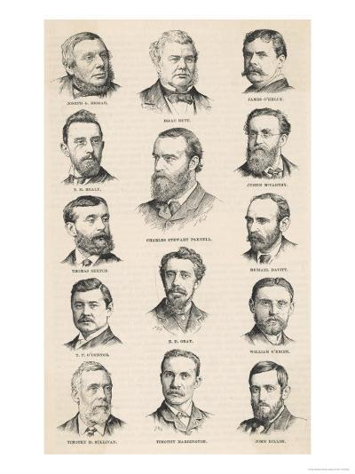 The Leaders of the Irish Parliamentary Party Including Charles Stewart Parnell--Giclee Print