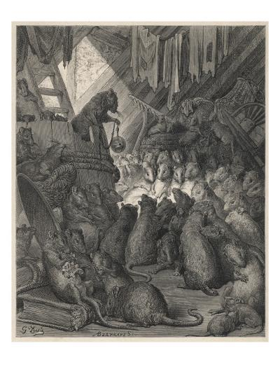 The League of Rats Hundreds of Rats Clamber over Sacks and Perch on a Ladder--Giclee Print
