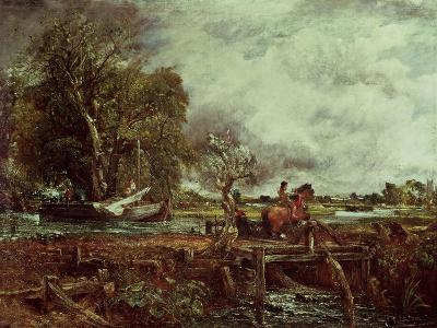 The Leaping Horse, c.1825-John Constable-Giclee Print