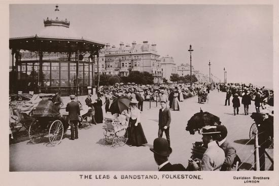 'The Leas & Bandstand, Folkestone', late 19th-early 20th century-Unknown-Giclee Print