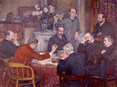 The Lecture, 1903-Th?o van Rysselberghe-Giclee Print