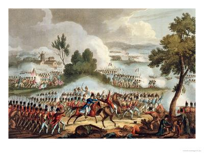 The Left Wing of the British Army, at Battle of Waterloo, 1815, J. Jenkins, Engrave, T. Sutherland-William Heath-Giclee Print