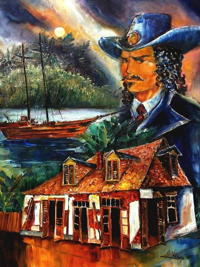 The Legend Of Jean Lafitte-Diane Millsap-Art Print