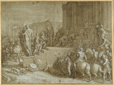 The Legend of Seven Kings Paying Homage to a Pope-Giuseppe della Porta Salviati-Giclee Print