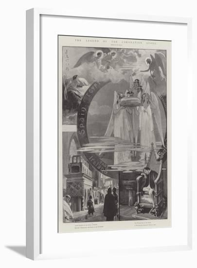 The Legend of the Coronation Stone-G.S. Amato-Framed Giclee Print