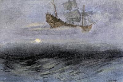 "The Legendary ""Flying Dutchman,"" a Phantom Ship Feared by Sailors--Giclee Print"