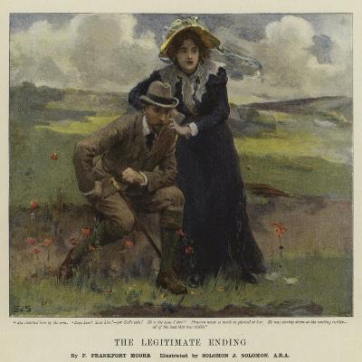 The Legitimate Ending-Solomon Joseph Solomon-Giclee Print