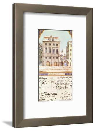 The Leipzig Gewandhaus with a Piece of Music by Felix Mendelssohn (1809-47)