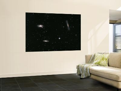 The Leo Triplet, Also Known as the M66 Group, is a Small Group of Galaxies in the Constellation Leo--Giant Art Print