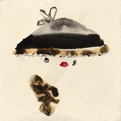 The Leopard Trimmed Hat-Bridget Davies-Giclee Print