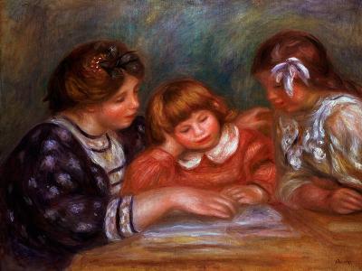The Lesson, 1906-Pierre-Auguste Renoir-Giclee Print