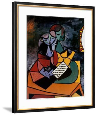 The Lesson-Pablo Picasso-Framed Art Print
