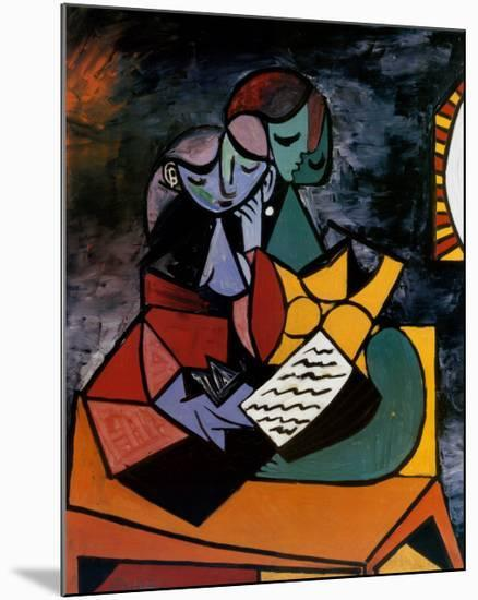 The Lesson-Pablo Picasso-Mounted Art Print