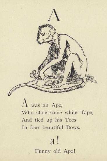 The Letter A-Edward Lear-Giclee Print