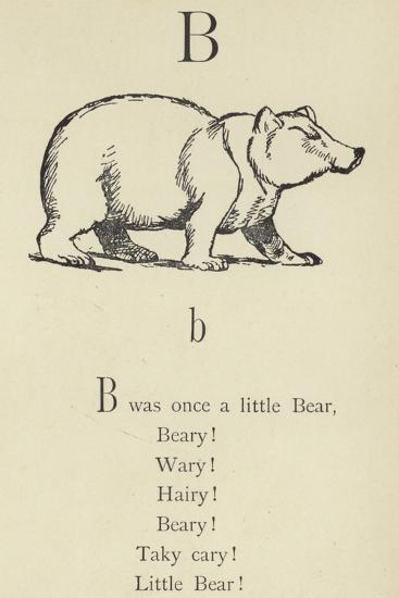 The Letter B-Edward Lear-Giclee Print