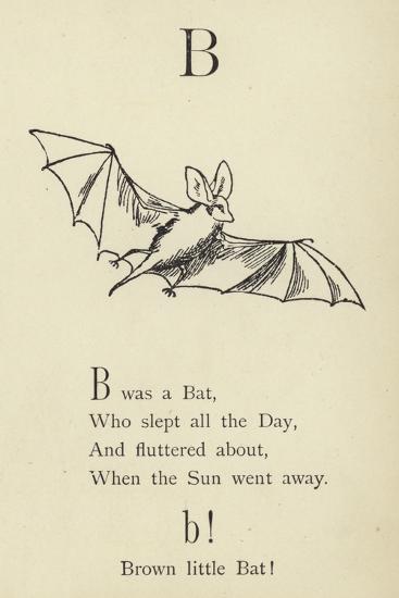 The Letter B-Edward Lear-Giclee Print