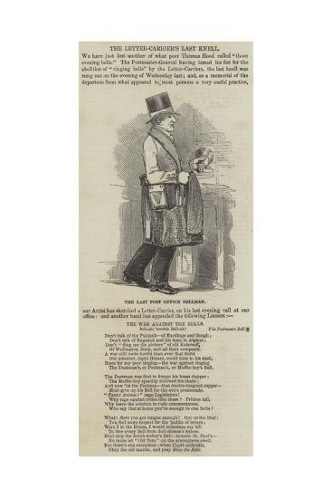The Letter-Carrier's Last Knell--Giclee Print