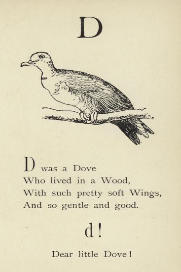 The Letter D-Edward Lear-Giclee Print